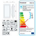 Lampa ścienna LED 12.5W RAD-31A IP65